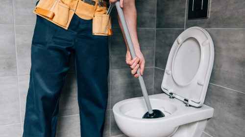 Blocked toilet plumbers